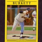 1991 Fleer Baseball #256 John Burkett - San Francisco Giants