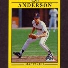 1991 Fleer Baseball #252 Dave Anderson - San Francisco Giants