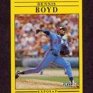 1991 Fleer Baseball #226 Dennis Boyd - Montreal Expos