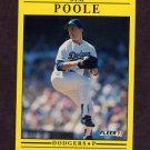 1991 Fleer Baseball #217 Jim Poole - Los Angeles Dodgers