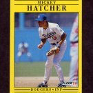 1991 Fleer Baseball #206 Mickey Hatcher - Los Angeles Dodgers