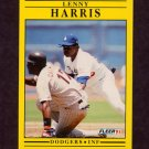 1991 Fleer Baseball #204 Lenny Harris - Los Angeles Dodgers