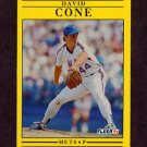 1991 Fleer Baseball #143 David Cone - New York Mets