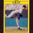 1991 Fleer Baseball #095 Jeff Gray RC - Boston Red Sox