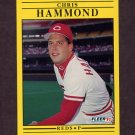 1991 Fleer Baseball #065 Chris Hammond - Cincinnati Reds