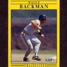 1991 Fleer Baseball #029 Wally Backman - Pittsburgh Pirates