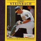 1991 Fleer Baseball #024 Terry Steinbach - Oakland A's