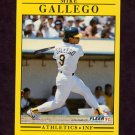 1991 Fleer Baseball #007 Mike Gallego - Oakland A's