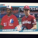 1990 Fleer Baseball #653 Delino DeShields RC / Jason Grimsley
