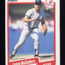 1990 Fleer Baseball #448 Lance McCullers - New York Yankees