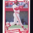 1990 Fleer Baseball #435 Herm Winningham - Cincinnati Reds