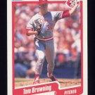1990 Fleer Baseball #415 Tom Browning - Cincinnati Reds