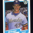 1990 Fleer Baseball #328 Bill Krueger - Milwaukee Brewers