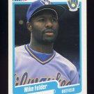 1990 Fleer Baseball #321 Mike Felder - Milwaukee Brewers Ex