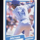 1990 Fleer Baseball #296 Julio Franco - Texas Rangers