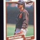 1990 Fleer Baseball #167 Benito Santiago - San Diego Padres