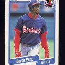 1990 Fleer Baseball #147 Devon White - California Angels