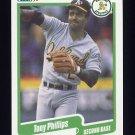 1990 Fleer Baseball #019 Tony Phillips - Oakland A's