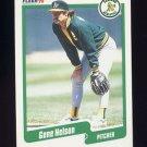 1990 Fleer Baseball #017 Gene Nelson - Oakland A's