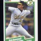 1990 Fleer Baseball #011 Rick Honeycutt - Oakland A's