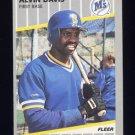 1989 Fleer Baseball #546 Alvin Davis - Seattle Mariners