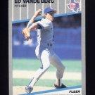1989 Fleer Baseball #534B Ed VandeBerg - Texas Rangers