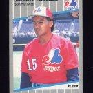 1989 Fleer Baseball #388 Johnny Paredes - Montreal Expos