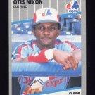 1989 Fleer Baseball #387 Otis Nixon - Montreal Expos