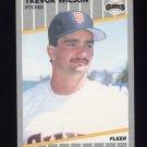 1989 Fleer Baseball #347 Trevor Wilson RC - San Francisco Giants