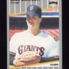 1989 Fleer Baseball #327 Dave Dravecky - San Francisco Giants