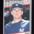 1989 Fleer Baseball #253 Richard Dotson - New York Yankees