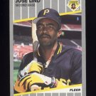 1989 Fleer Baseball #214 Jose Lind - Pittsburgh Pirates