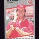 1989 Fleer Baseball #161 Nick Esasky - Cincinnati Reds