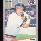 1989 Fleer Baseball #129 Dave Bergman - Detroit Tigers