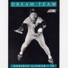 1991 Score Baseball #887 Roberto Alomar DT - San Diego Padres