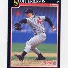 1991 Score Baseball #812 Scott Erickson RC - Minnesota Twins