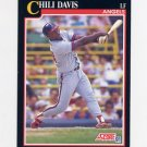 1991 Score Baseball #803 Chili Davis - California Angels
