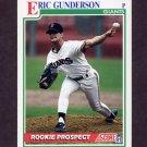 1991 Score Baseball #744 Eric Gunderson - San Francisco Giants
