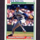 1991 Score Baseball #728 Rich DeLucia RC - Seattle Mariners