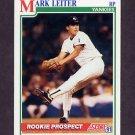 1991 Score Baseball #727 Mark Leiter RC - New York Yankees
