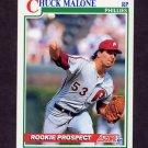 1991 Score Baseball #724 Chuck Malone - Philadelphia Phillies