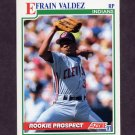 1991 Score Baseball #723 Efrain Valdez RC - Cleveland Indians