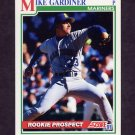 1991 Score Baseball #721 Mike Gardiner RC - Seattle Mariners