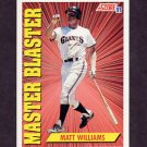 1991 Score Baseball #689 Matt Williams MB - San Francisco Giants