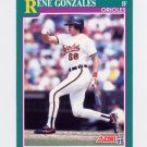 1991 Score Baseball #638 Rene Gonzales - Baltimore Orioles