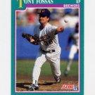 1991 Score Baseball #634 Tony Fossas - Milwaukee Brewers