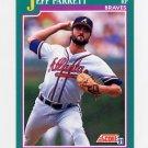 1991 Score Baseball #565 Jeff Parrett - Atlanta Braves