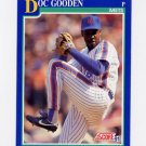 1991 Score Baseball #540 Dwight Gooden - New York Mets