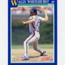 1991 Score Baseball #529 Wally Whitehurst - New York Mets