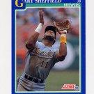 1991 Score Baseball #473 Gary Sheffield - Milwaukee Brewers